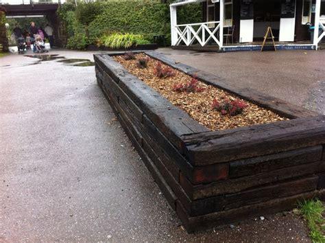 buckfastleigh raised bed with railway sleepers