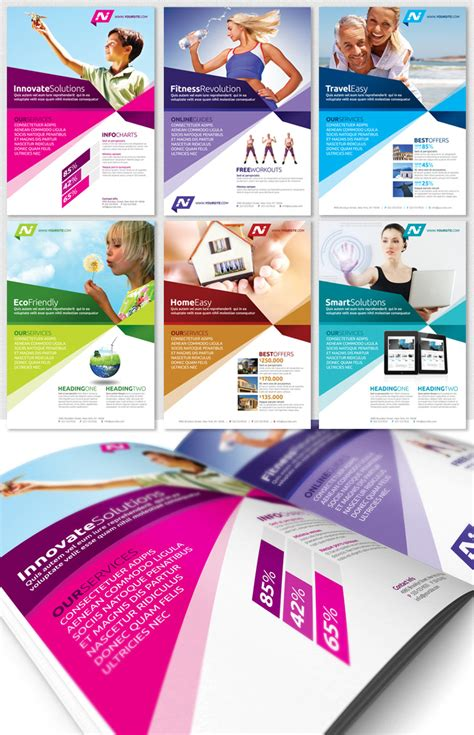 Multipurpose Business Flyer Template Magazine Ad Psdbucket Com Advertisement Design Templates