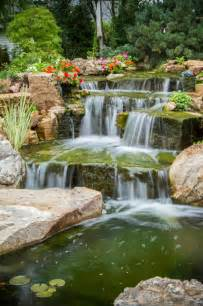 Aquascapes Inc Tree And Waterfall Inspired Backyard Traditional