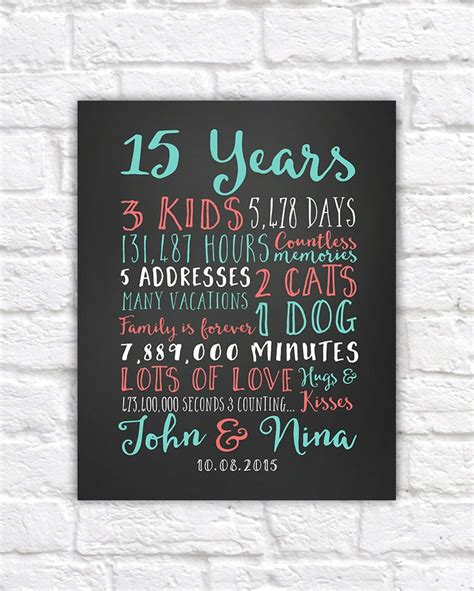 Wedding Anniversary Gifts Paper By Year by Best 25 15 Year Anniversary Ideas On 15 Year