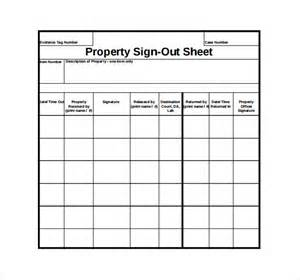 sign out sheet template excel sign out sheet template 12 free word pdf documents