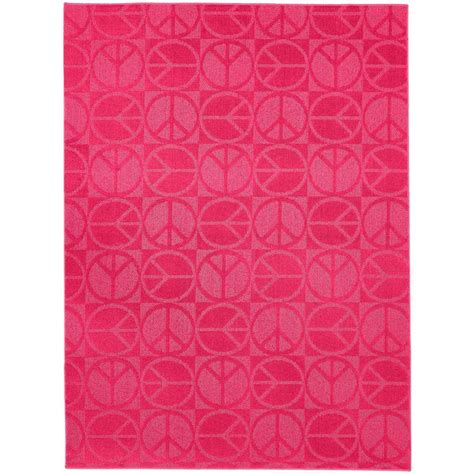 large pink rugs garland rug large peace pink 5 ft x 7 ft area rug cl 17 ra 0057 17 the home depot
