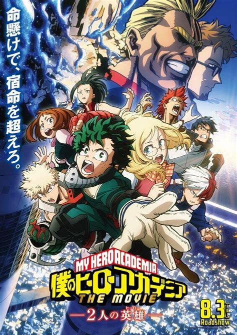 my hero academia the two heroes movie gets a new key