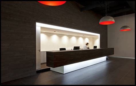 Reception Desk Design Ideas Black And White Combine Reception Desk Ideas With Some Grey Orange Pendant Ls On Astonishing