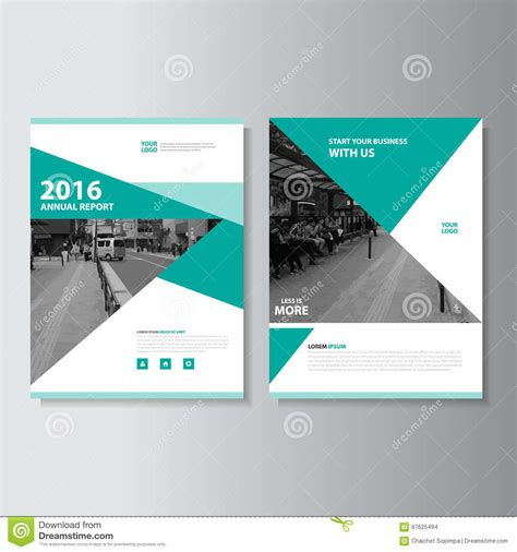layout of cover page of a report green vector magazine annual report leaflet brochure flyer