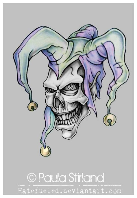 joker hat tattoo evil jester tattoo evil jester by hatefueled i like