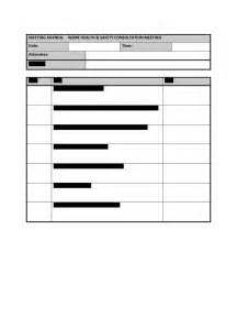 ohs committee meeting minutes template hr advance meeting agenda template