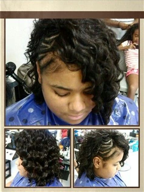 half sew in weave hairstyles braided half mohawk with wavy hair sew in cute hair
