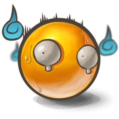 scared smiley scared icon yolks 2 iconset bad blood