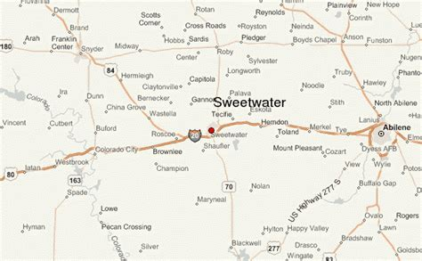 nolan county texas map sweetwater texas location guide