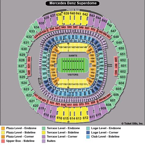 mercedes superdome seating 3d new orleans saints seating chart car interior design