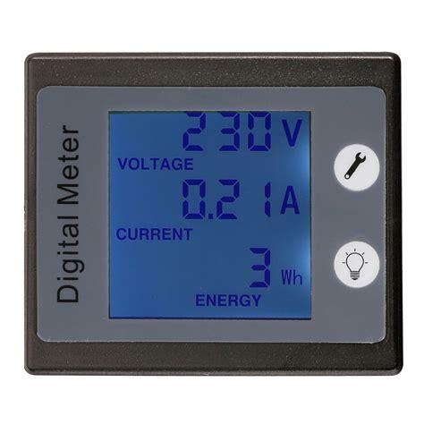 Ac Panel Wattmeter Voltmeter Ammeter Energy Kwh Watt Meter 100a Led ac 260v 100a digital voltage power energy meter ammeter