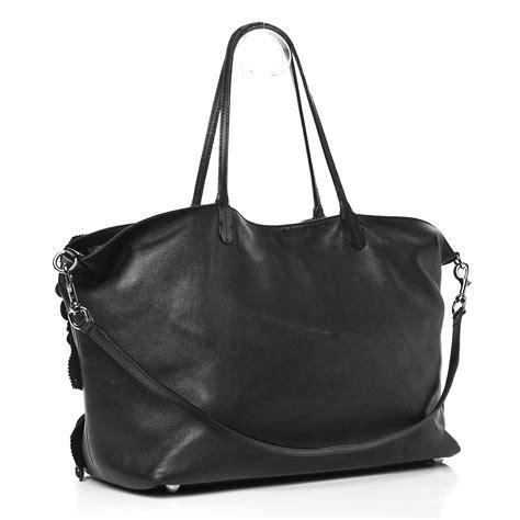 Valentino Rosette Tote by Valentino Nappa Studded Rosette Tote Black 248533