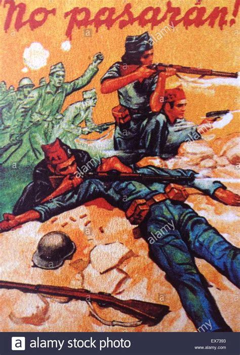 Pasaran Tje republican no pasaran poster during the civil war