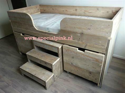 lade decorate halfhoogslaper sjoerd gebruikt steigerhout met