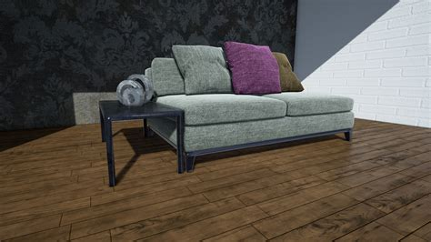 sofa scene sofa scene by cat with fish in architectural visualization