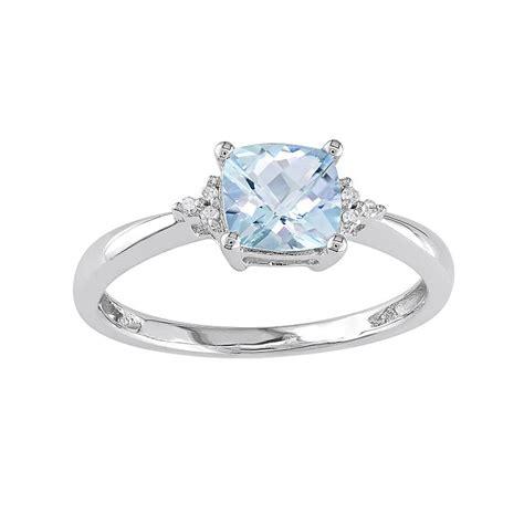 aquamarine engagement rings white gold wedding and