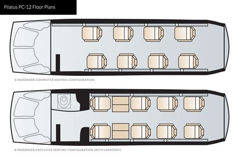 Grand Floor Plans by Pilatus Pc 12 Charter Aircraft Private Jet Tradewind