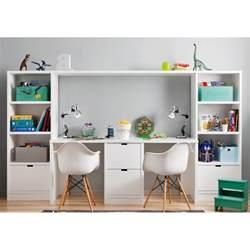 Nice Meuble Bibliotheque Enfant #6: Bureau-double-caisson-et-2-meubles-de-rangement-bibliotheques-pour-chambre-enfants-asoral.jpg