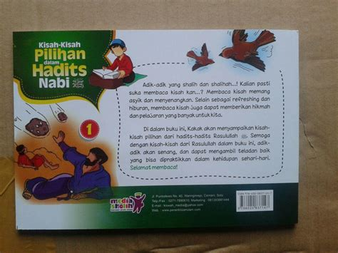 Buku Anak buku anak kisah kisah pilihan dalam hadits nabi jilid 1