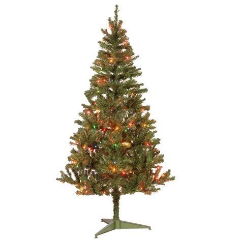 section of pre lit tree out national tree company 6 ft canadian grande fir artificial