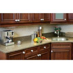 Self Stick Kitchen Backsplash by Smart Tiles Sm1022 12 Quot Subway Sand Quot Self Adhesive Plastic