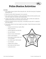 police station activities printable 2nd 5th grade