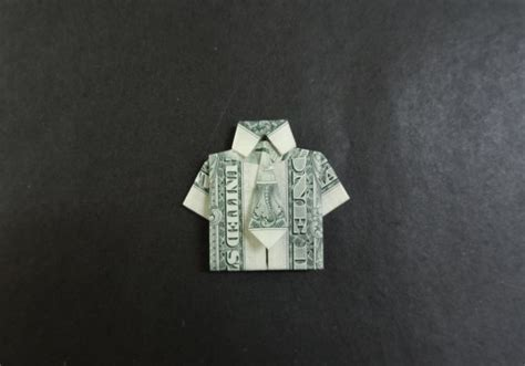 tutorial origami shirt dollar origami tutorial how to fold a shirt with tie