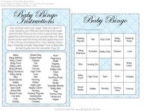 baby shower bingo printables free and boy baby shower bingo printables from a