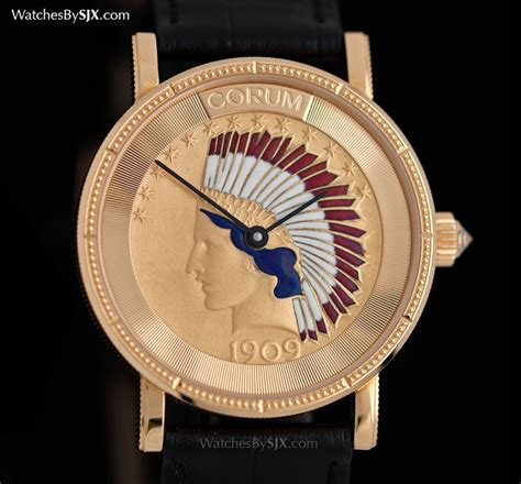 on with the corum coin made from a real