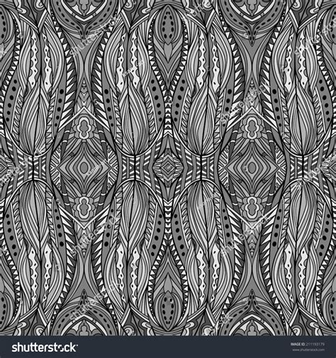 ethnic black of on grey stock vector image silver mysterious ethnic pattern seamless tribal stock