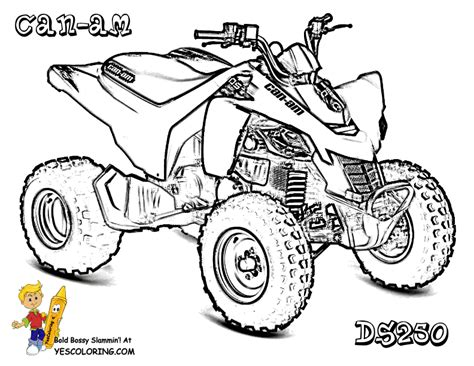 brawny atv coloring pages atv free coloring 4