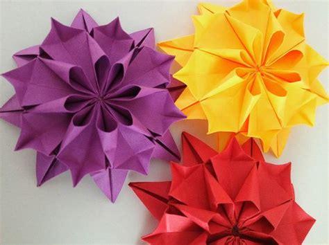 Origami Dahlia - flower origami paper quot dahlia flower quot origami