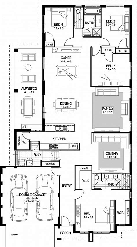duplex floor plans with double garage duplex floor plans with double garage fresh 4 bedroom