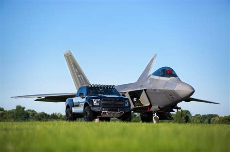 F150 Fighter Jet by Ford F 22 Raptor Sells For 300 000 At Auction Motor Trend