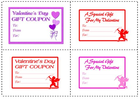 printable valentine s day coupon book template coupon book clipart 43