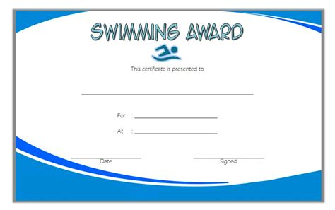 swimming certificates templates swimming certificate template 6 the best template collection