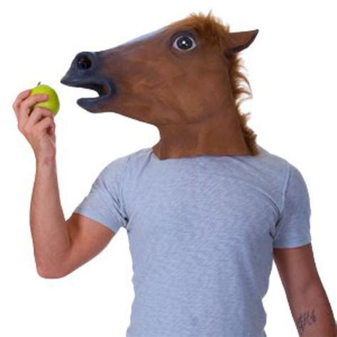 Horse Head Mask Meme - the creepy horse head mask by accoutrements meme