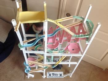 How To Make A Paper Marble Roller Coaster - paper roller coasters marble tracks made from paper by