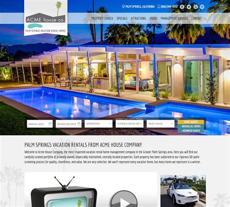 acme house company vacation rental escapia booking engine acme house co
