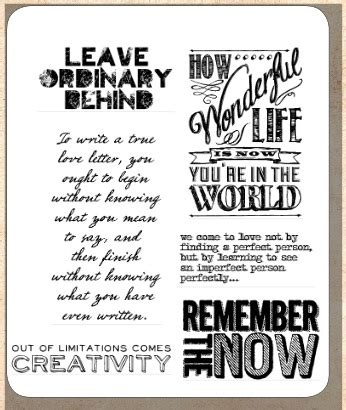 rubber st sayings tim holtz cling rubber st set random quotes