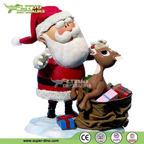 christmas fiberglass life size santa claus statues view