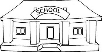 what color is a school black and white school building clipart clipartsgram