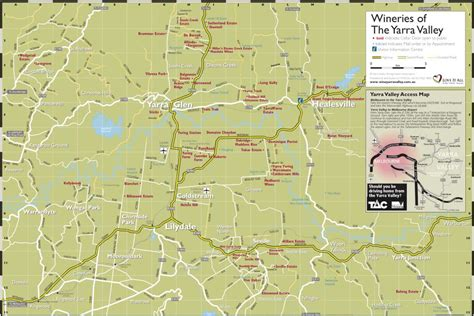 yarra valley wineries map winery restaurants maps