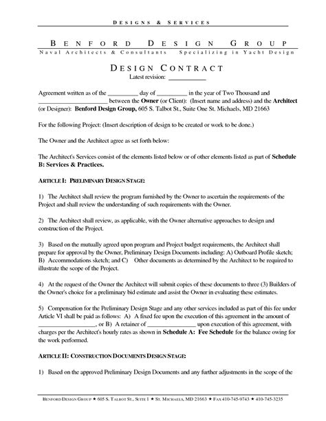 architect contract template attorney retainer contract interior design contract retainer