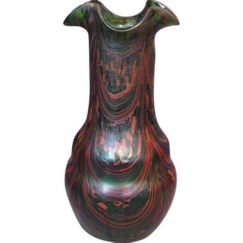 Kralik Glass Vase by Kralik Quot Swirl Quot Iridescent Glass Vase Circa 1900