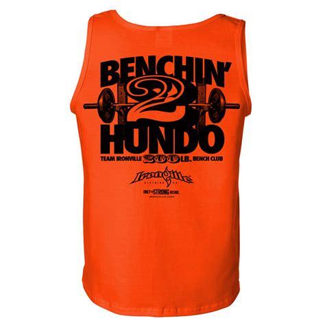 bench club 200 pound bench press club standard tank top ironville clothing