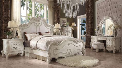 versailles bedroom furniture collection acme versailles 4 piece bedroom set in bone white