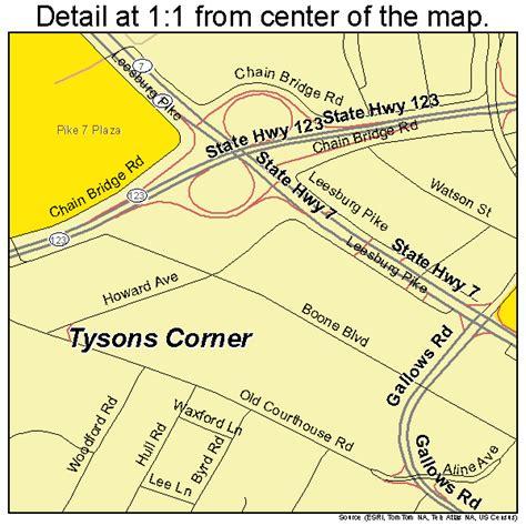 tysons corner mall map tysons corner virginia map 5179952