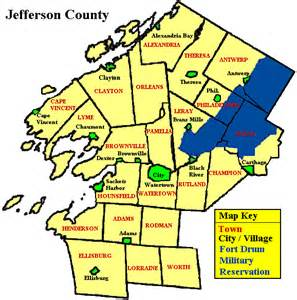 town of watertown new york map of jefferson county